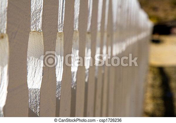 White picket fence - csp1726236