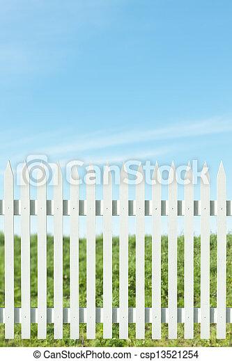 White picket fence - csp13521254