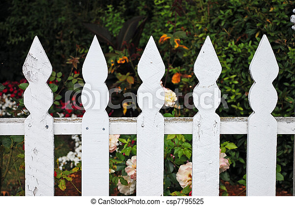 White picket fence - csp7795525