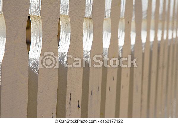 White picket fence - csp2177122