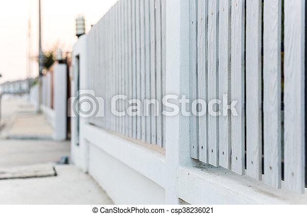 White picket fence - csp38236021