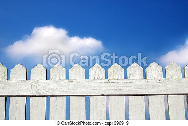 white picket fence - csp13969191