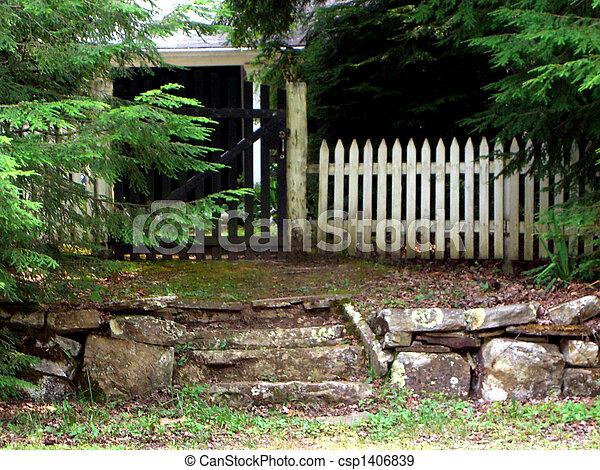 White picket fence - csp1406839