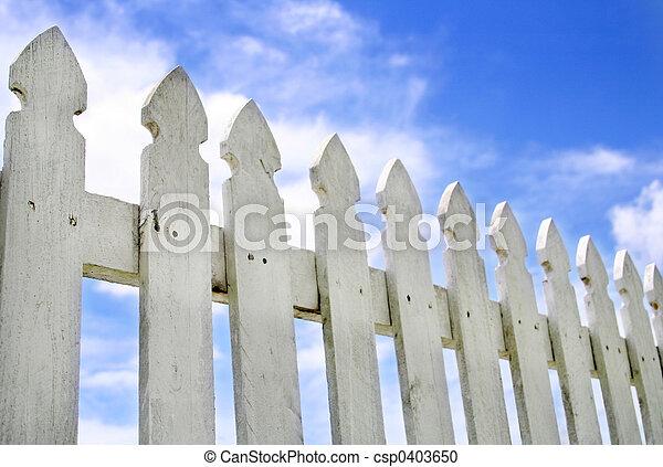 White Picket Fence - csp0403650