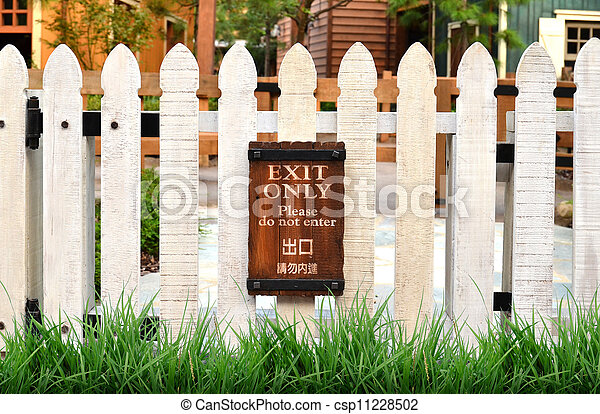 white picket fence - csp11228502