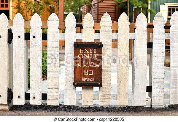 white picket fence - csp11228505