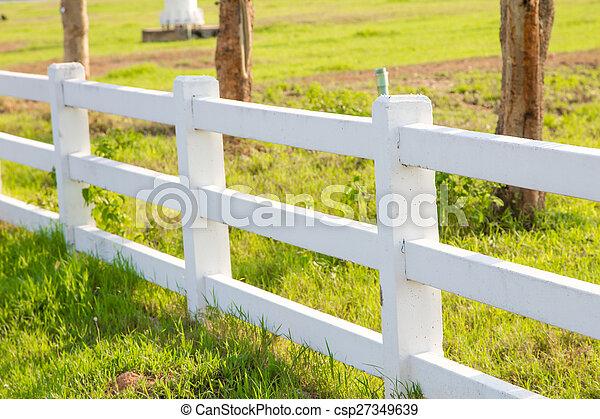 White picket fence - csp27349639