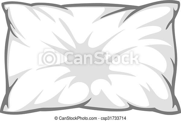 white pillow - csp31733714