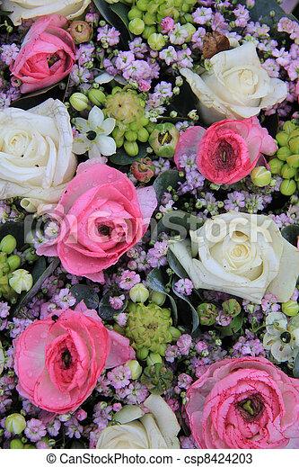 White pink and purple flower arrangement floral stock photos white pink and purple flower arrangement csp8424203 mightylinksfo