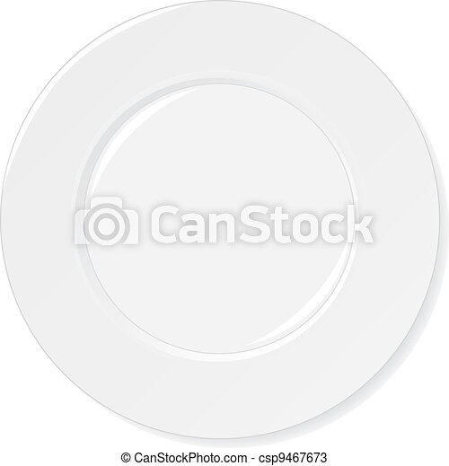 White Plate isolated on white - csp9467673