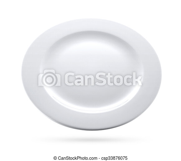 white plate isolated - csp33876075