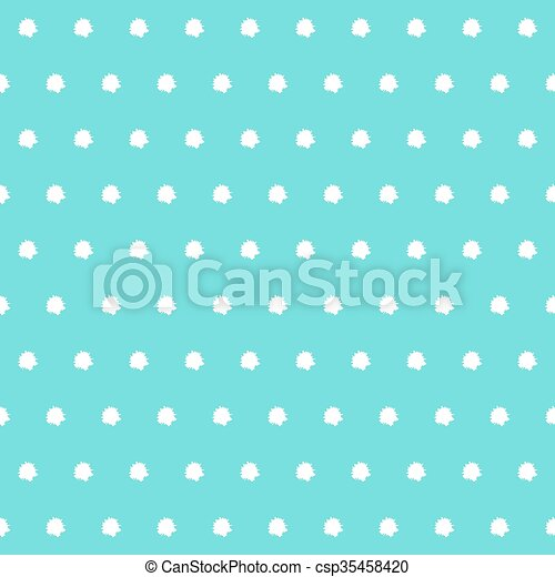 White Polka Dots On Tiffany Color Background