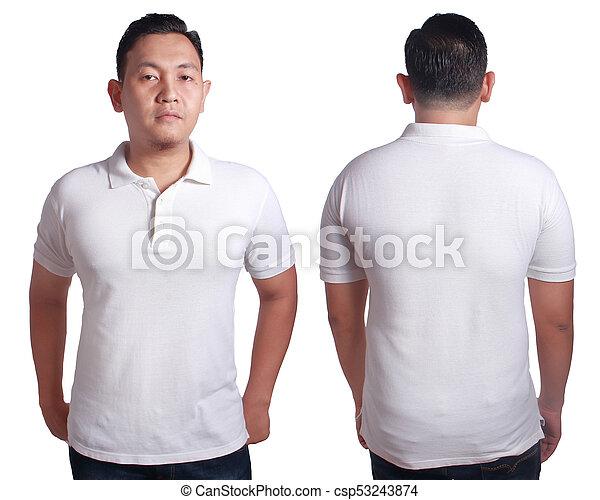 87192d4b White polo shirt mockup template. Blank polo shirt mock up, front ...