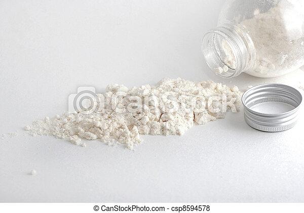 White powder from jar - csp8594578