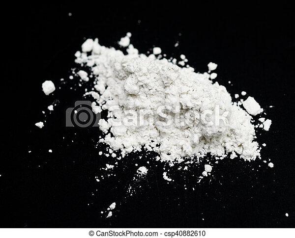 white powder - csp40882610