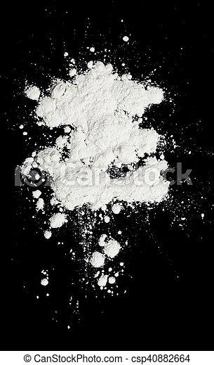 white powder - csp40882664
