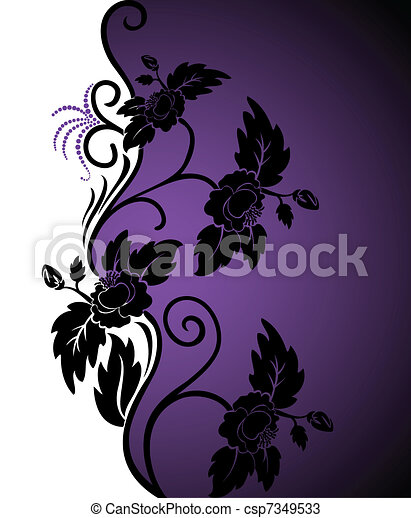 White-purple background - csp7349533