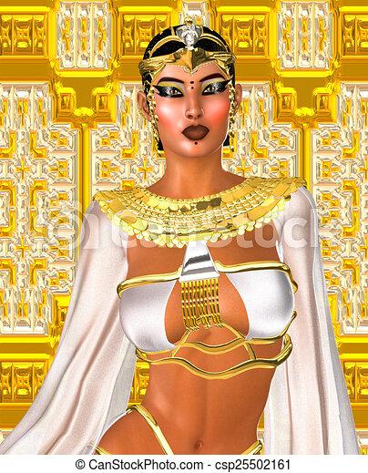 White Queen. Egyptian digital art. - csp25502161