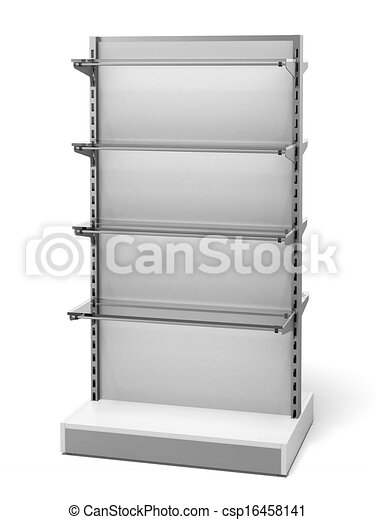 White Retail Store Shelves - csp16458141