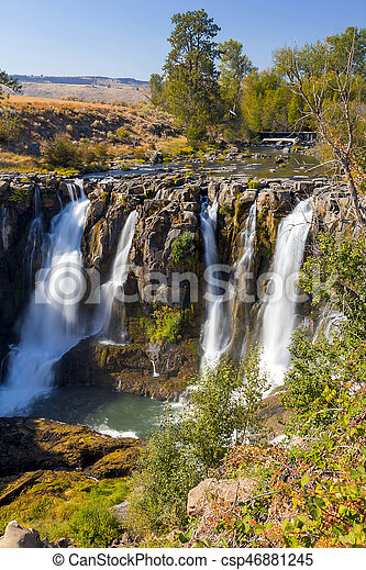 White River Falls in Tygh Valley - csp46881245