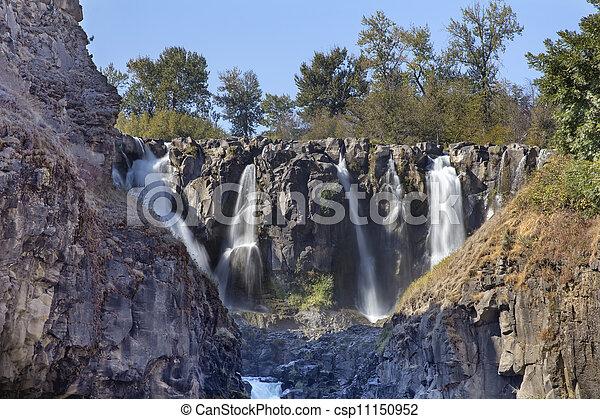 White River Falls Multiple Waterfalls in Oregon - csp11150952