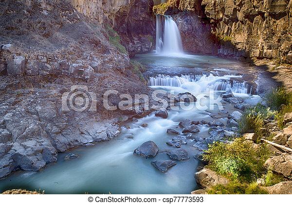 White River Falls State Park, Oregon - csp77773593
