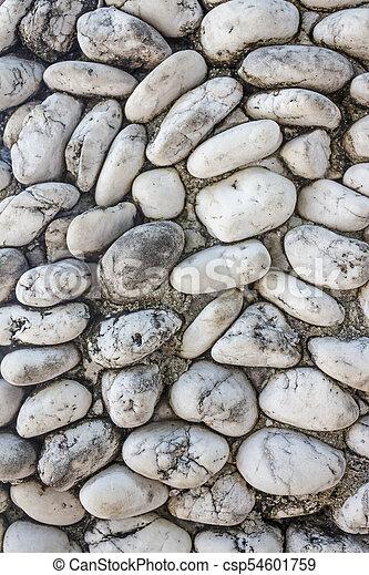 white river grit stones - csp54601759