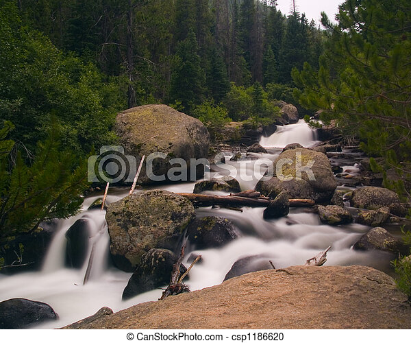 White River in a Green Forest - csp1186620
