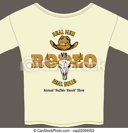 White Rodeo Tee Shirt with Graphics - csp22084053