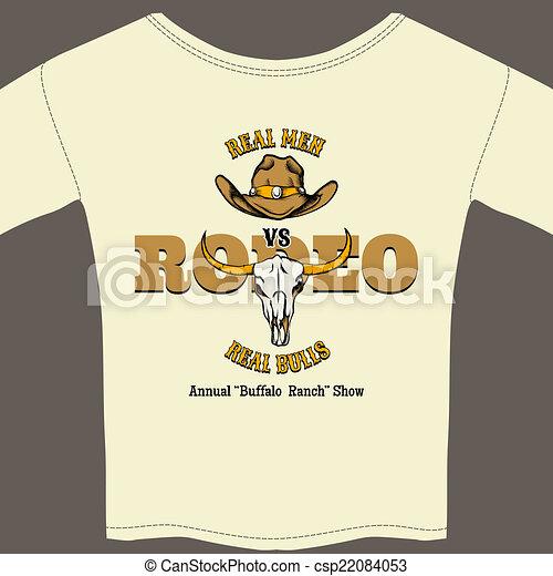 White Rodeo Tee Shirt with Graphics - csp22084053