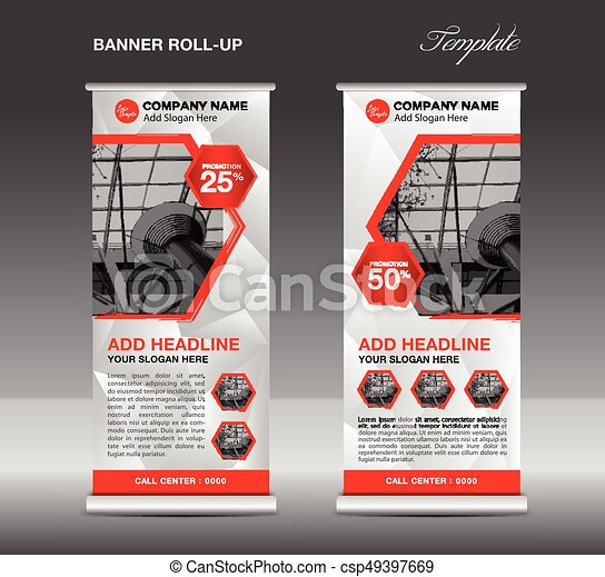 White Roll Up Banner Template Vector Roll Up Stand Banner Design Flyer Advertisement Polygon Background Poster