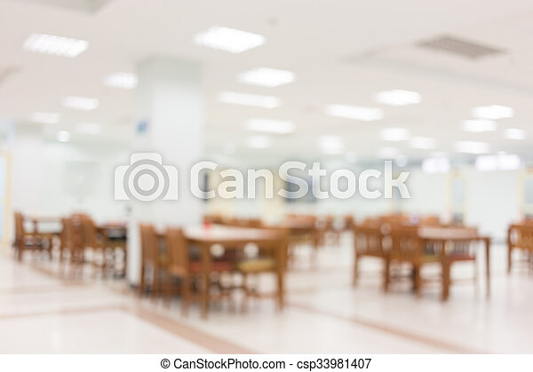 white room building decorated with chair and table, abstract blurred background - csp33981407