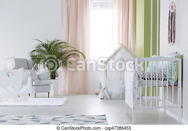 White room for baby - csp47386453