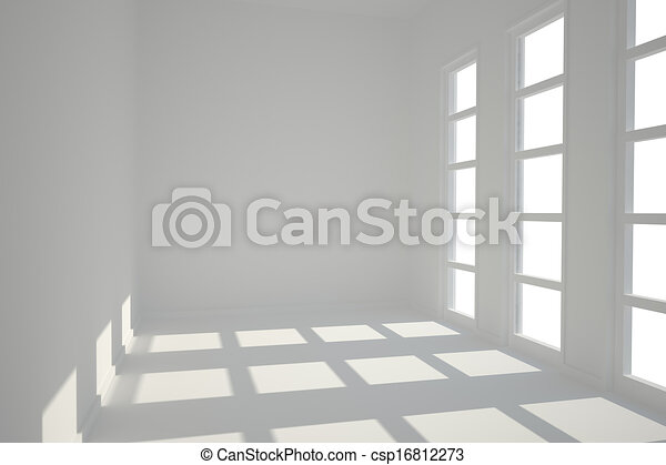 White room with windows - csp16812273