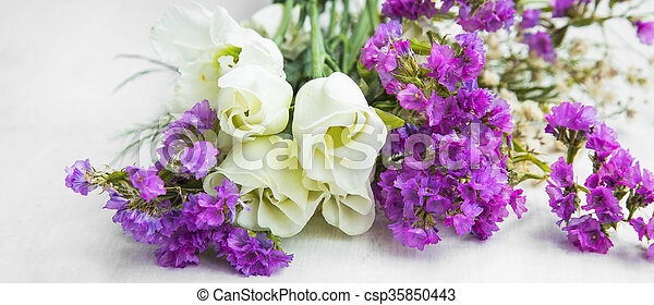 White roses with purple flowers bouquet spring blossom bouquet white roses with purple flowers bouquet csp35850443 mightylinksfo