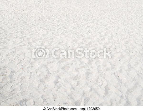 white sand background - csp11793650