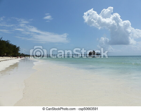 White sand, blue ocean - csp50663591