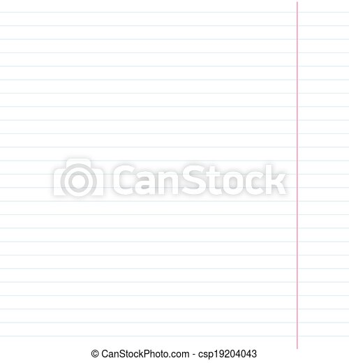 White school notebook paper sheet in line - csp19204043