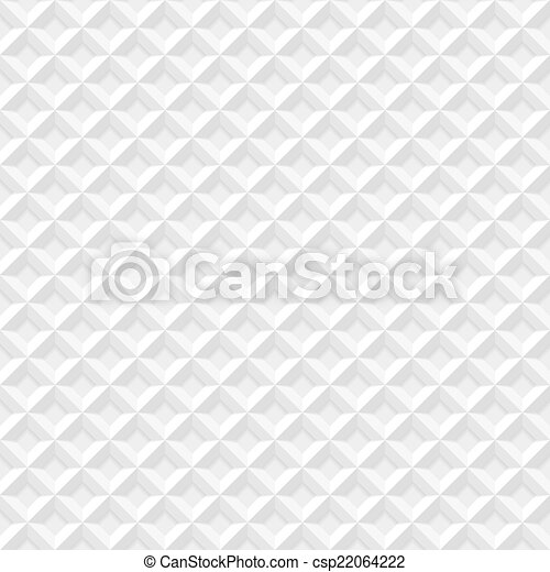 White seamless geometric pattern - csp22064222