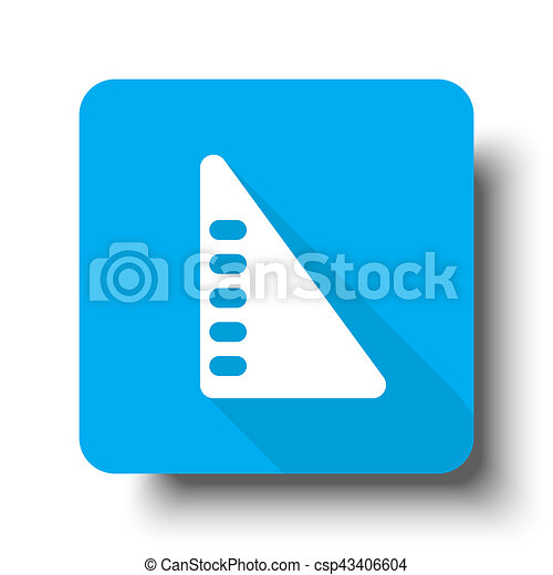 White Set Square icon on blue web button - csp43406604