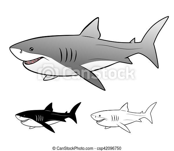 White shark - csp42096750