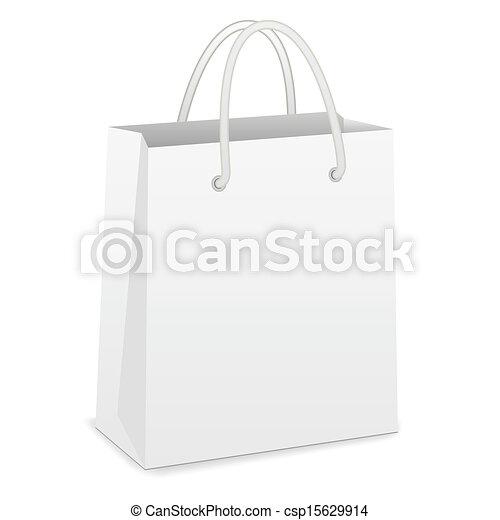 White Shopping Bag - csp15629914