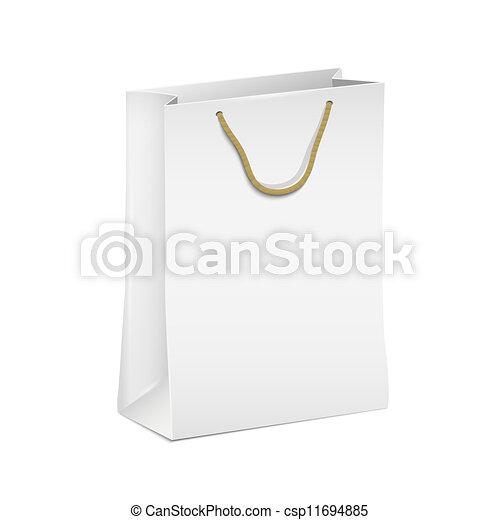 White shopping paper bag - csp11694885