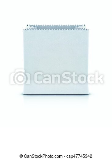 White shopping paper bag - csp47745342