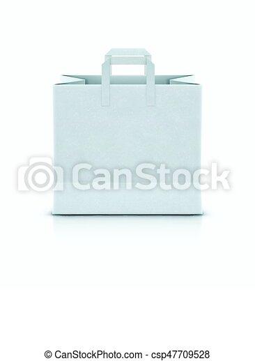 White shopping paper bag - csp47709528