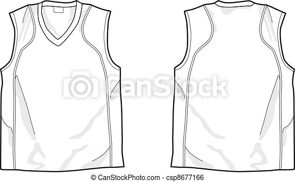 Clip art vector of white sleeveless shirt template front and back vector white sleeveless shirt pronofoot35fo Image collections