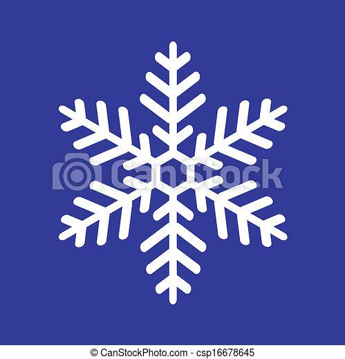 white snowflake - csp16678645
