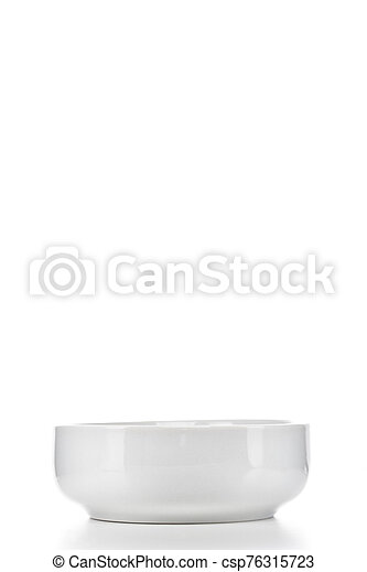white soup bowl on white isolated background - csp76315723