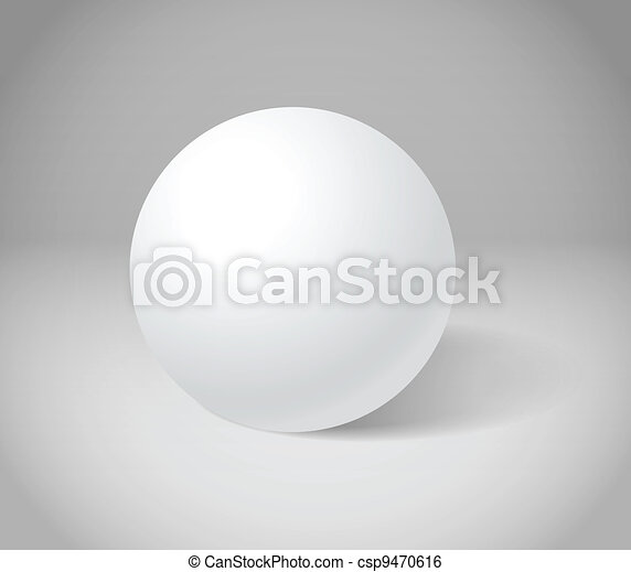 White sphere on grey scene - csp9470616