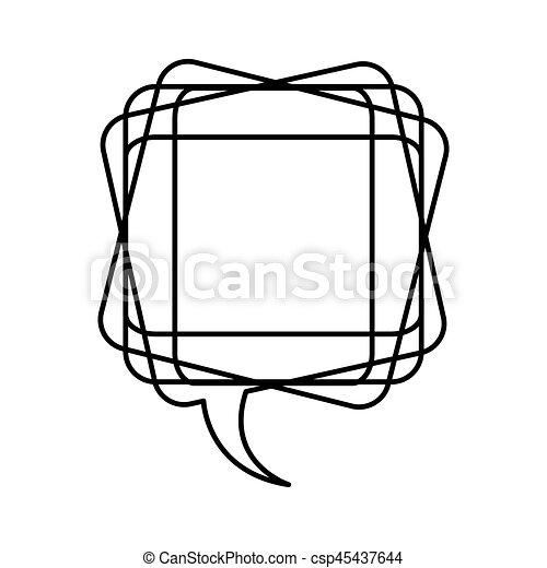 white square chat bubble icon - csp45437644